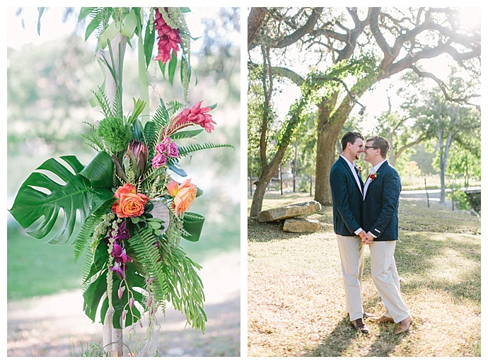 monstera-leaf-wedding-decor-paige-vaughn-photography