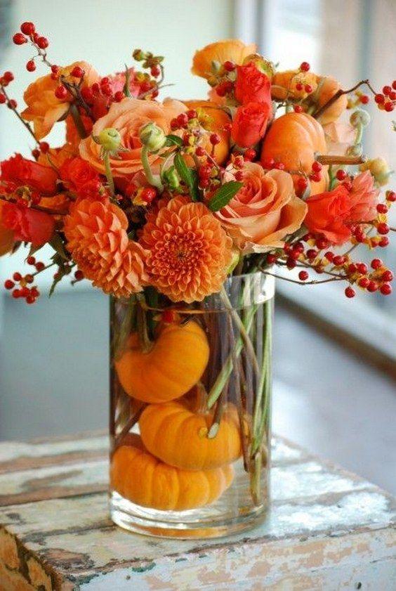 pumpkin-floral-centerpiece