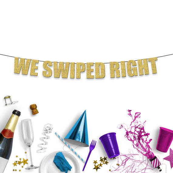 we-swiped-right-engagement-party-banner
