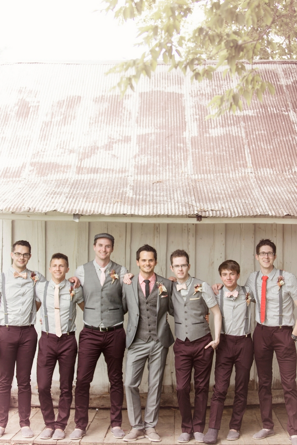 burgundy-and-gray-mismatched-groomsmen