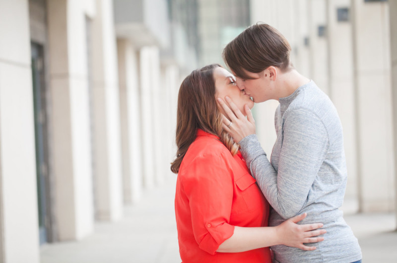 Image for Fran and Kate's Uptown Charlotte Engagement Shoot