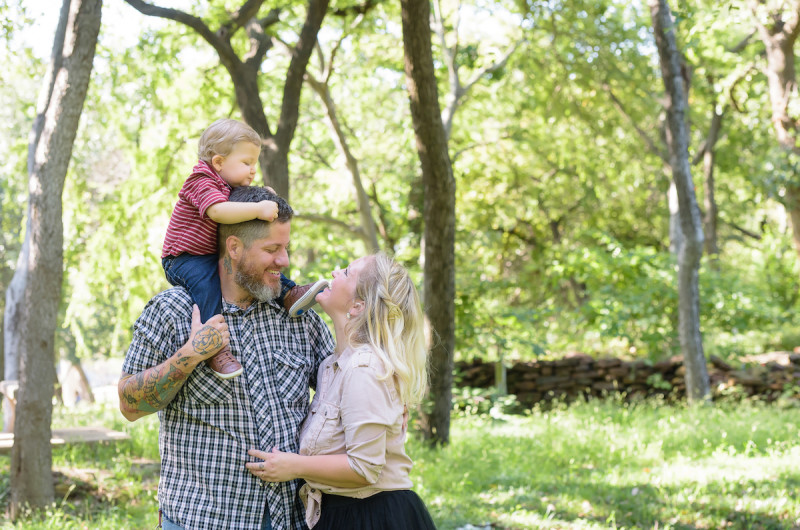 Image for Christen and Mark's Cheerful Family Session at Texas Woman's University