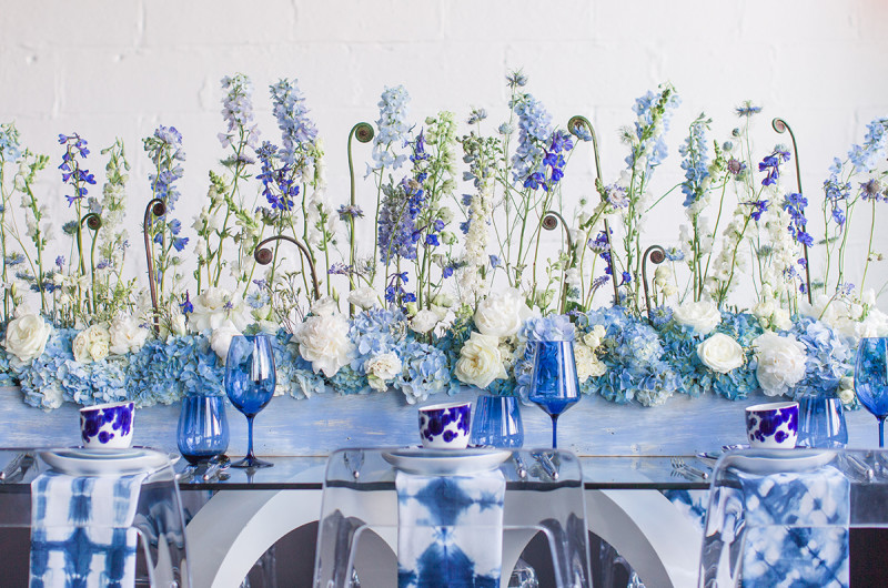 Image for Monochromatic Muse: Modern Wedding Inspiration in Hues of Blue