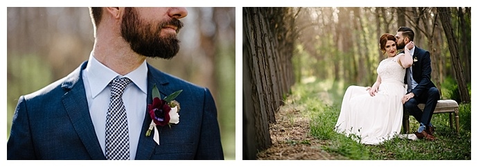 navy-wedding-suit-with-crimson-colored-boutonniere-carnefix-photography