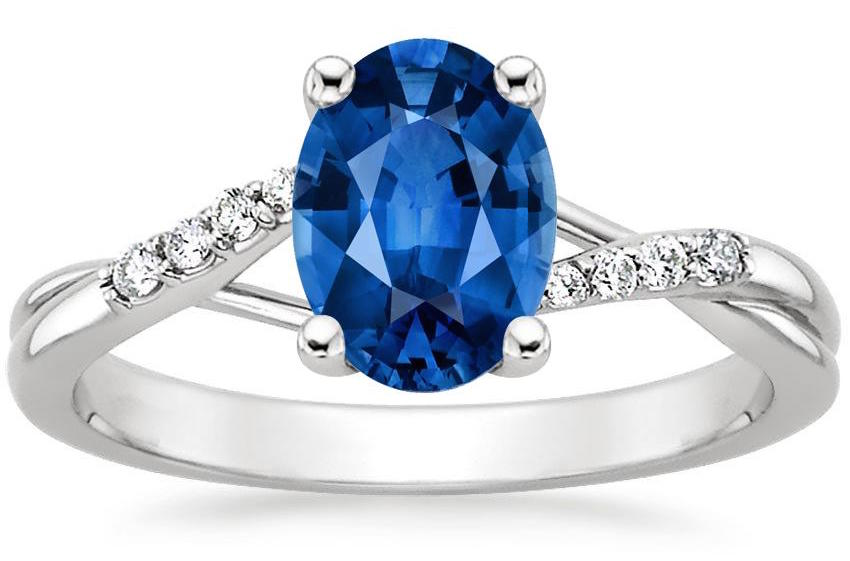 15 Stunning Sapphire Engagement Rings To Celebrate