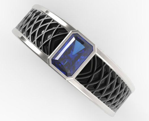 unique-radiant-cut-sapphire-mens-wedding-band