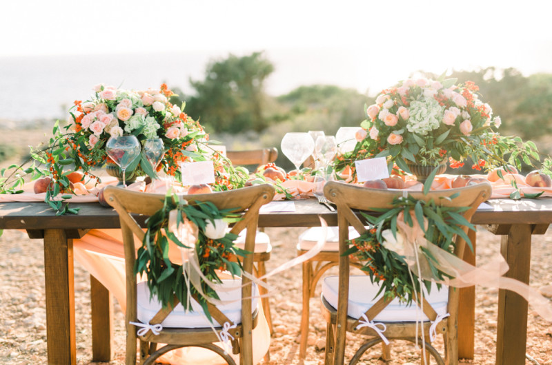 Image for Mystical Watercolor and Peach Wedding Inspiration