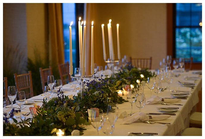 greenery-lined-wedding-table-taper-candles-dani-fine-photography