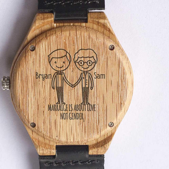 personalized-wood-wedding-watch-lgbt-couple