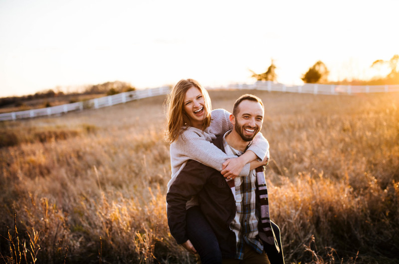 Image for Hannah and Brian's Charming Campfire Engagement Session