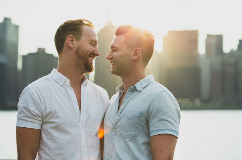 Image for Steven and Dustin's Candid Long Island City Engagement Session