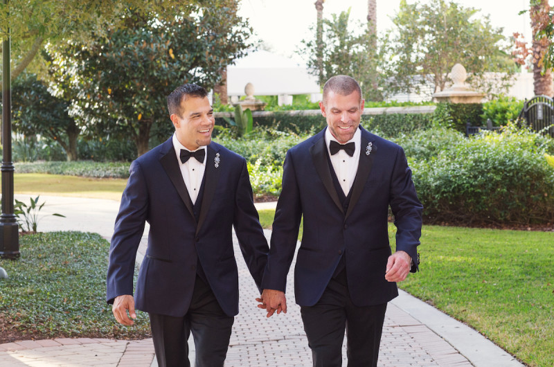 Image for Keith and Edwin's Modern Navy Blue Wedding at the Ritz Carlton