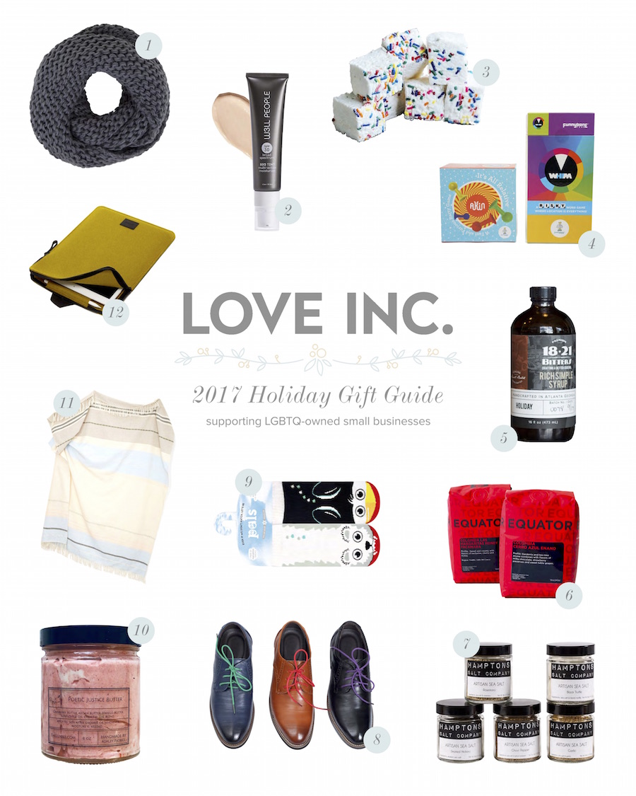 lgbtq owned small business holiday gift guide love inc maglove