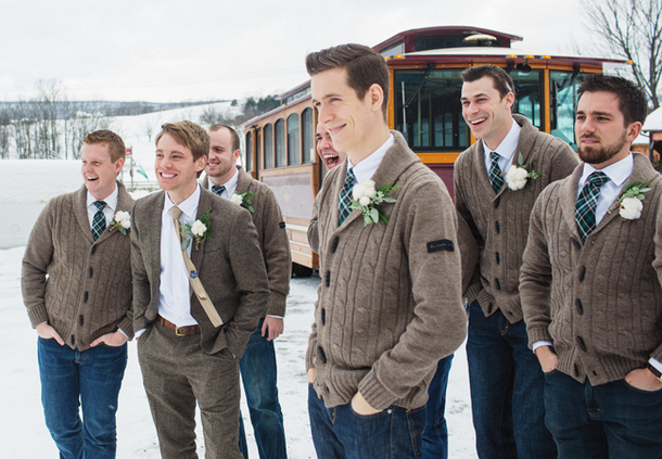 winter-groomsmen-look-sweaters-and-jeans