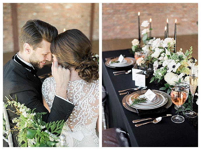 black-wedding-linens-alicia-king-photography