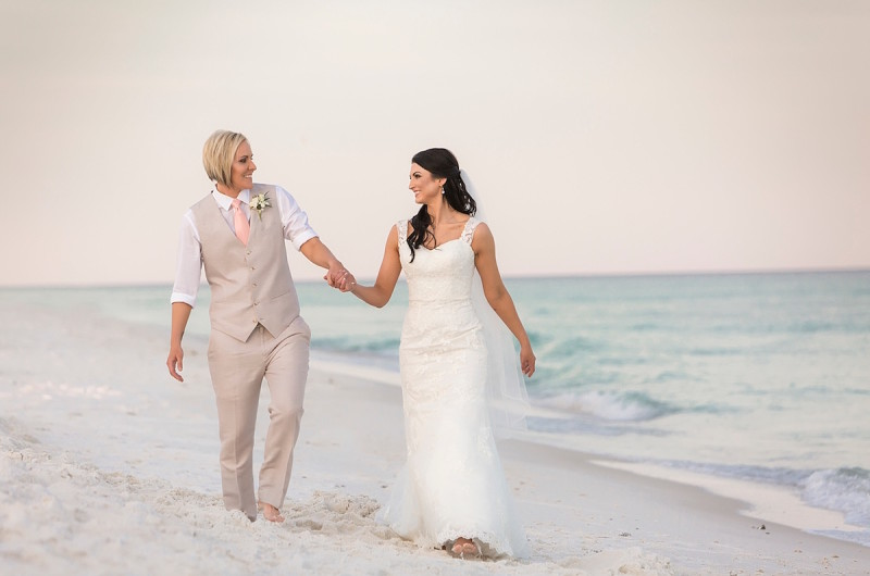 Image For April And Amy S Intimate Florida Beach Wedding At Sunset