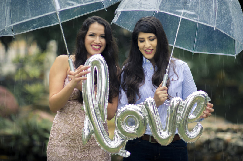 Image for Kristina and Victoria's Rainy and Romantic Engagement Shoot