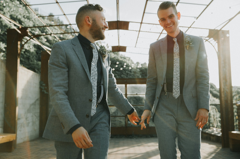 Image for Josh and Ryan's Dapper Knoxville Wedding with Vintage Details