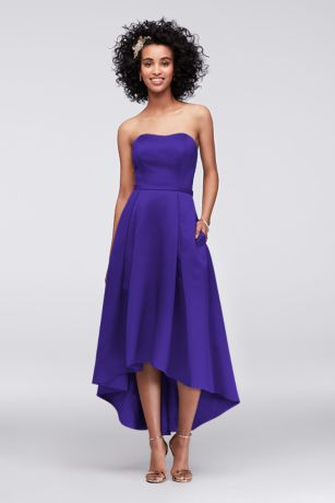 high-low-strapless-bridesmaid-dress