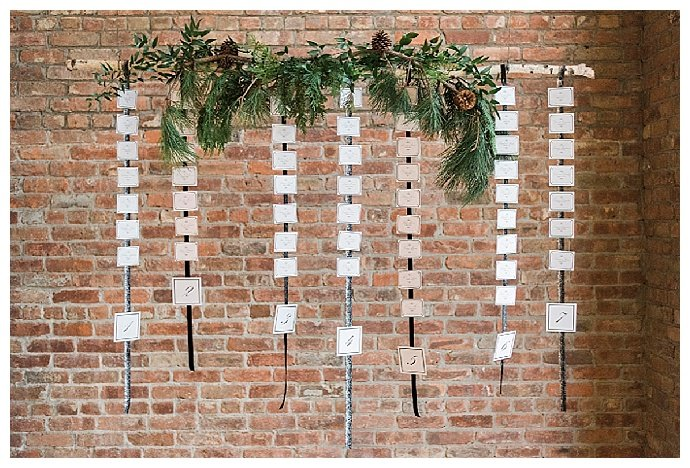 rustic-wedding-escort-card-display-alicia-king-photography