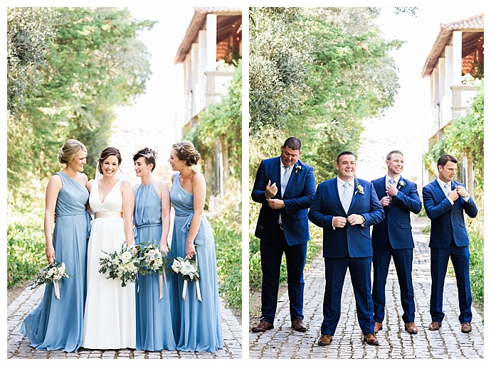same-color-different-style-bridesmaids-dresses-passionate-wedding-photography
