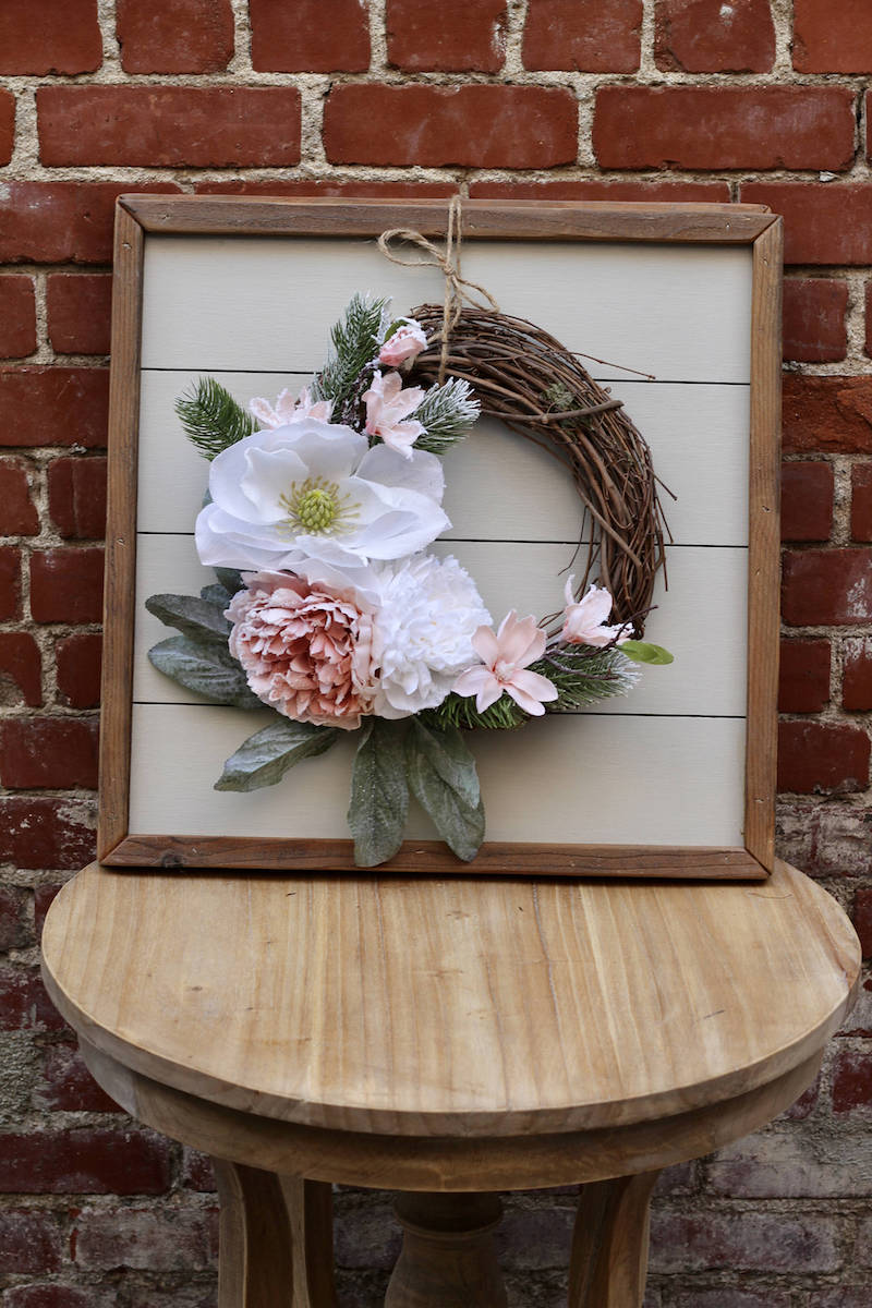 unique-floral-holiday-wreath-for-winter-wedding