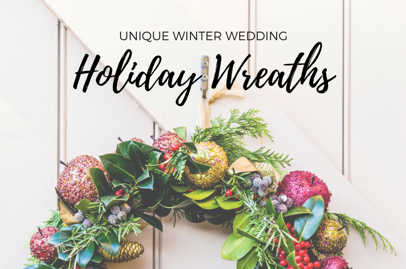 Image for 10 Out-of-the-Box Holiday Wreaths for a Festive Winter Wedding