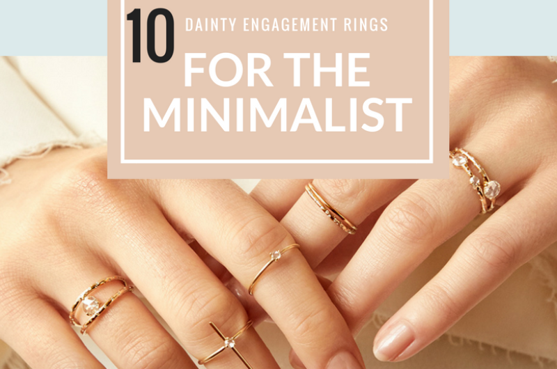 Image for Dainty Engagement Rings for the Minimalist Soonlywed