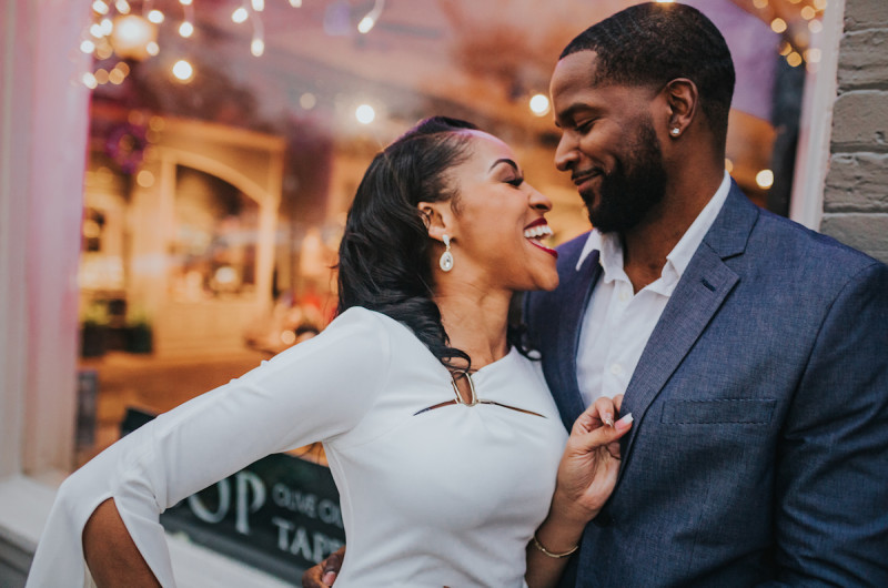 Image for Monique and Anwar's Stylish Atlanta Engagement Session