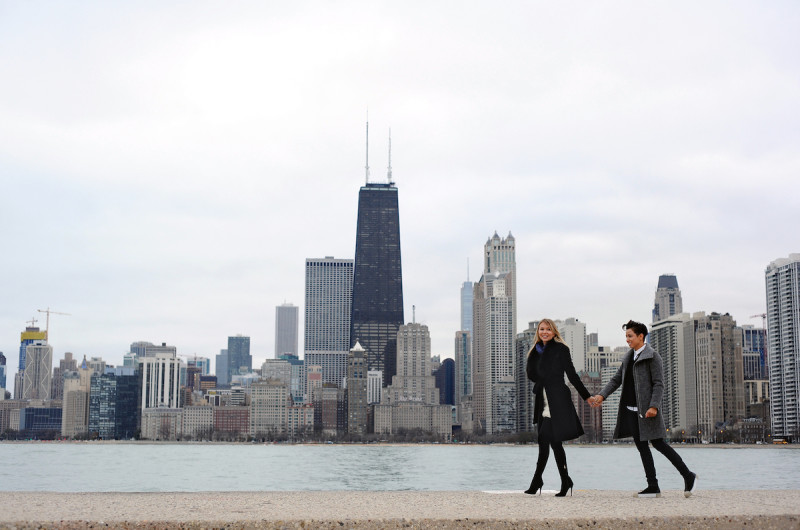 Image for Sophia and Oana's Charming Chicago Proposal at North Avenue Beach
