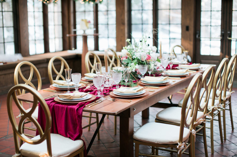 Image for A Wintry and Romantic New England Wedding Inspiration Shoot