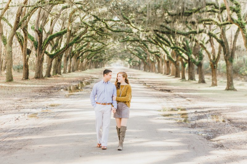 Image for Carli and Mike's Wormsloe Plantation Engagement Shoot