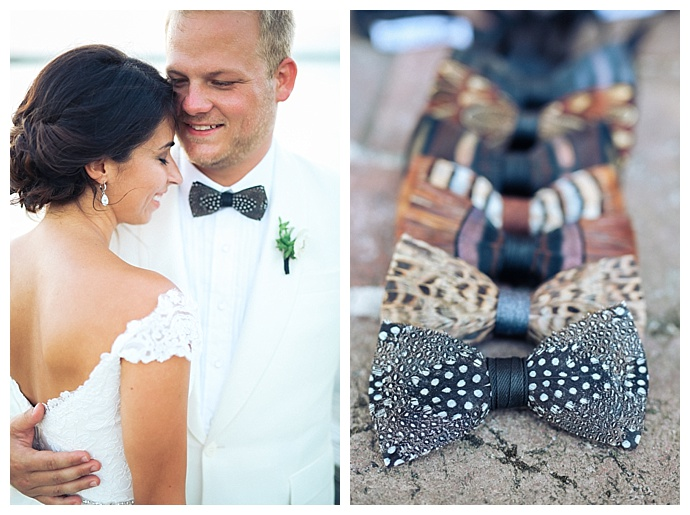 feather-wedding-bow-ties-brackish