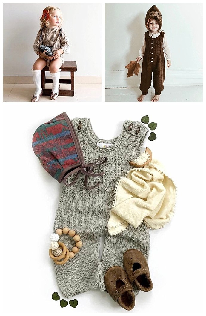 Handknit Baby and Toddler Rompers