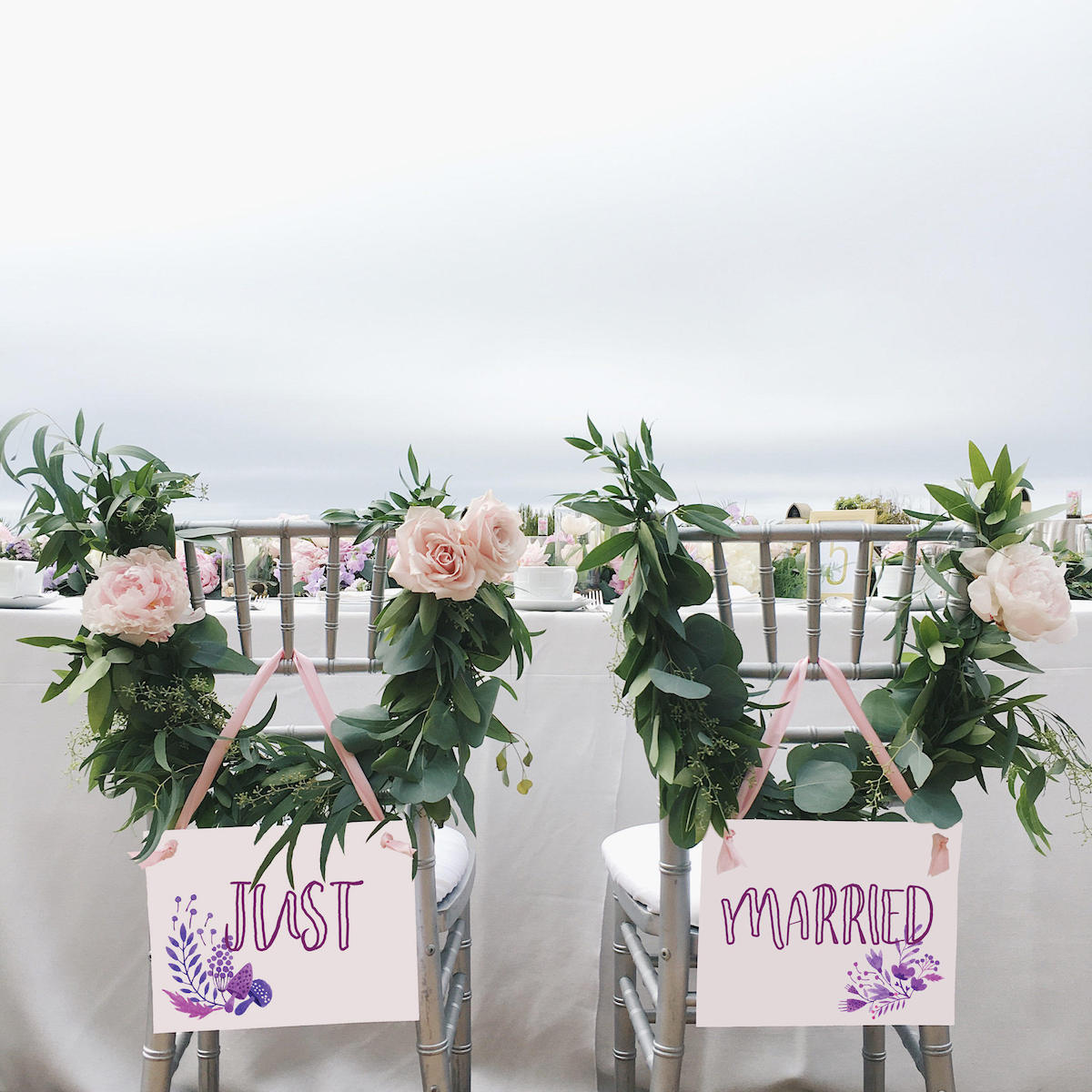 just-married-sweetheart-table-chair-signs