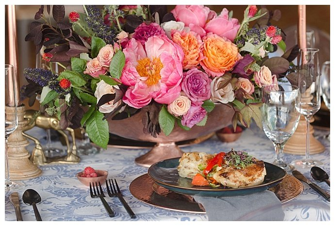 pink-wedding-flower-centerpiece-marc-edwards-photographs