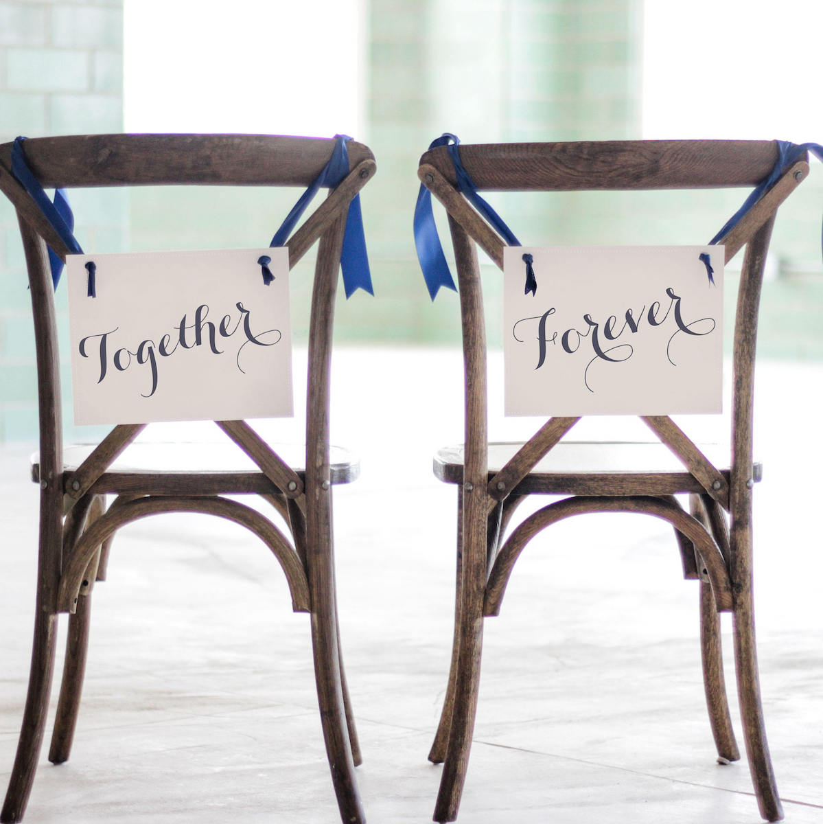 together-forever-wedding-chair-signs