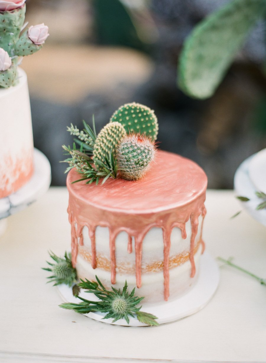 copper-drip-wedding-cake-with-succulents