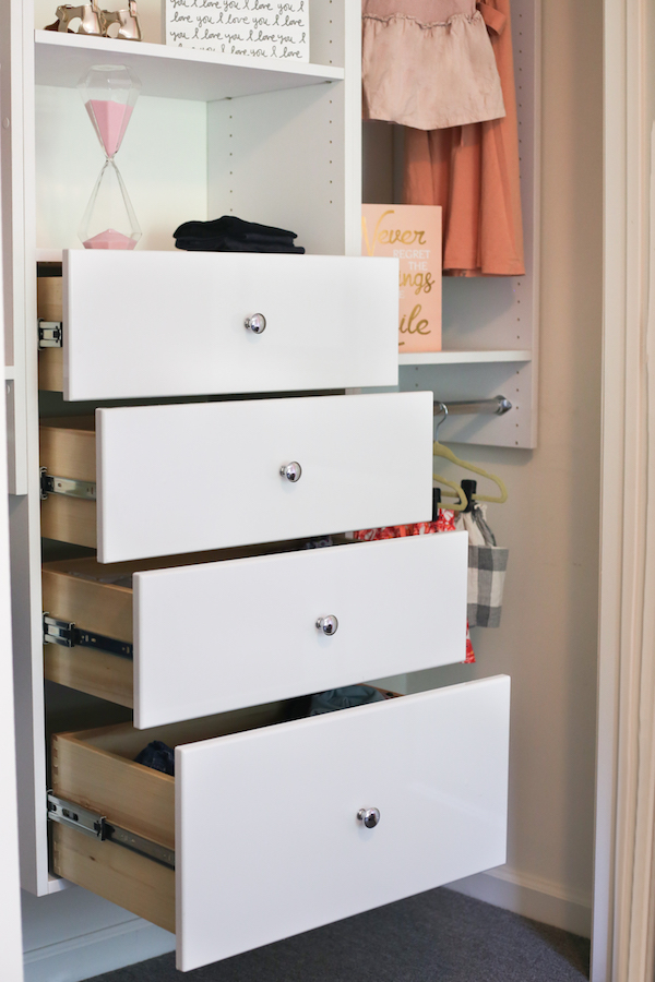 Closet Drawer Organization for Spring Cleaning