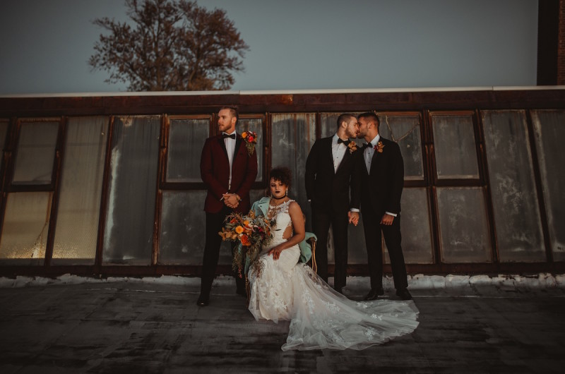 Image for Moody Industrial Wedding Inspiration with Trendy Copper Details