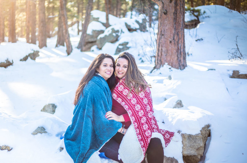 Image for Janive and Zasha's Snowy Mountain Engagement Session