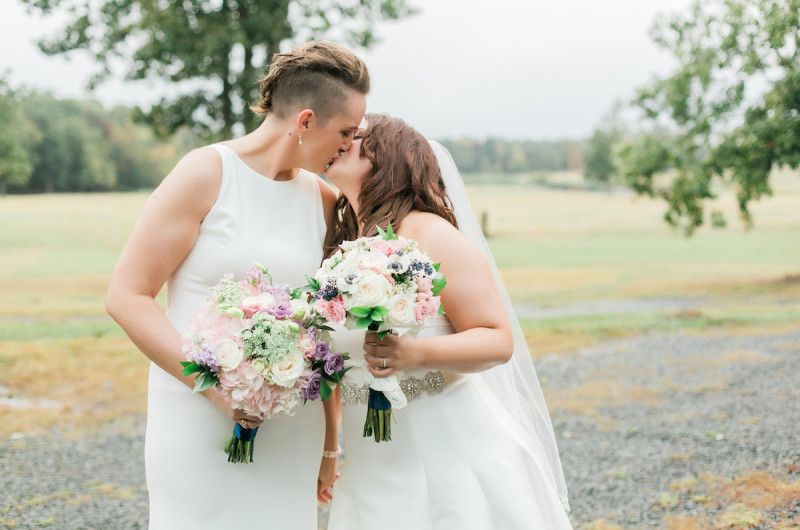 Image for Fran and Kate's Rainy and Rustic North Carolina Wedding