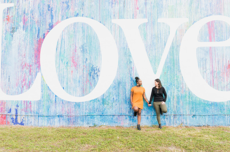 Image for Sarah and Dalia's Wynwood Walls Engagement Session in Miami