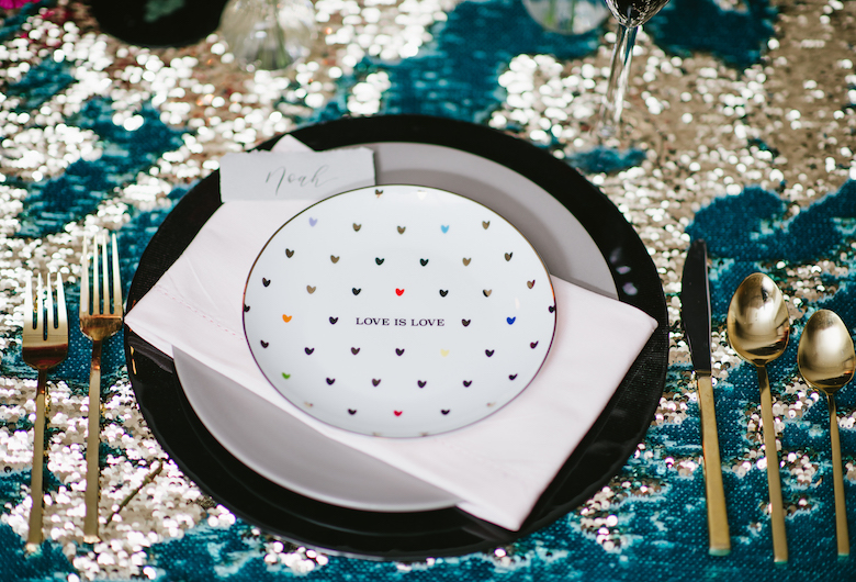 Love Is Love Place Settings