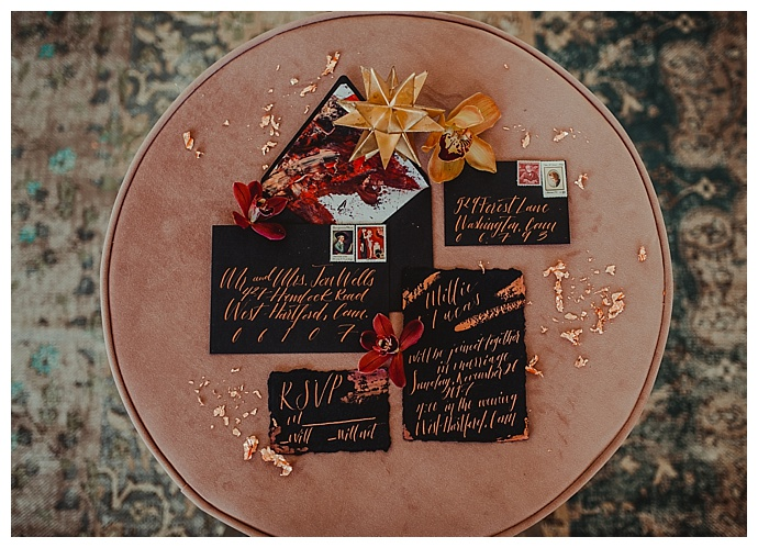rowanberry-and-lavender-photography-copper-and-black-invitation-suite