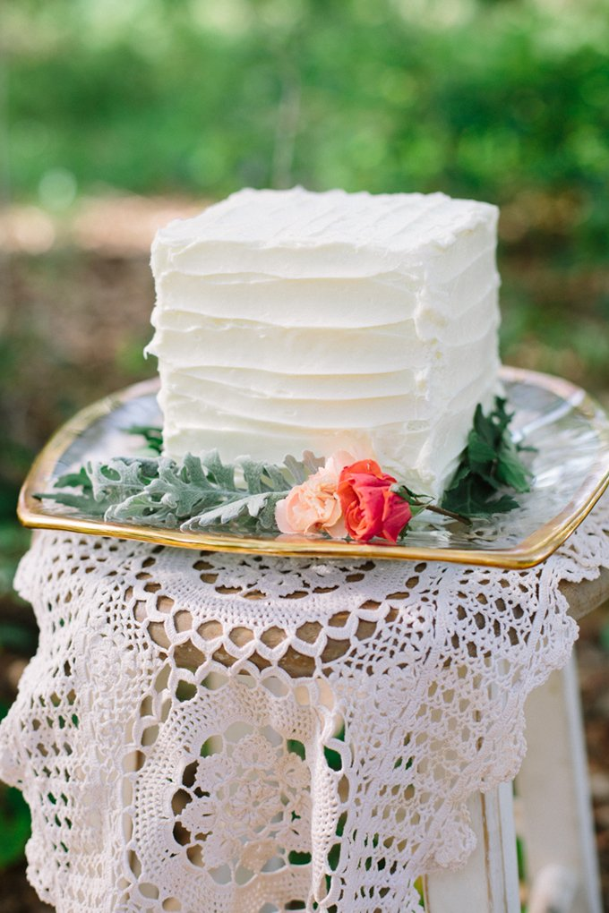 small-square-wedding-cake