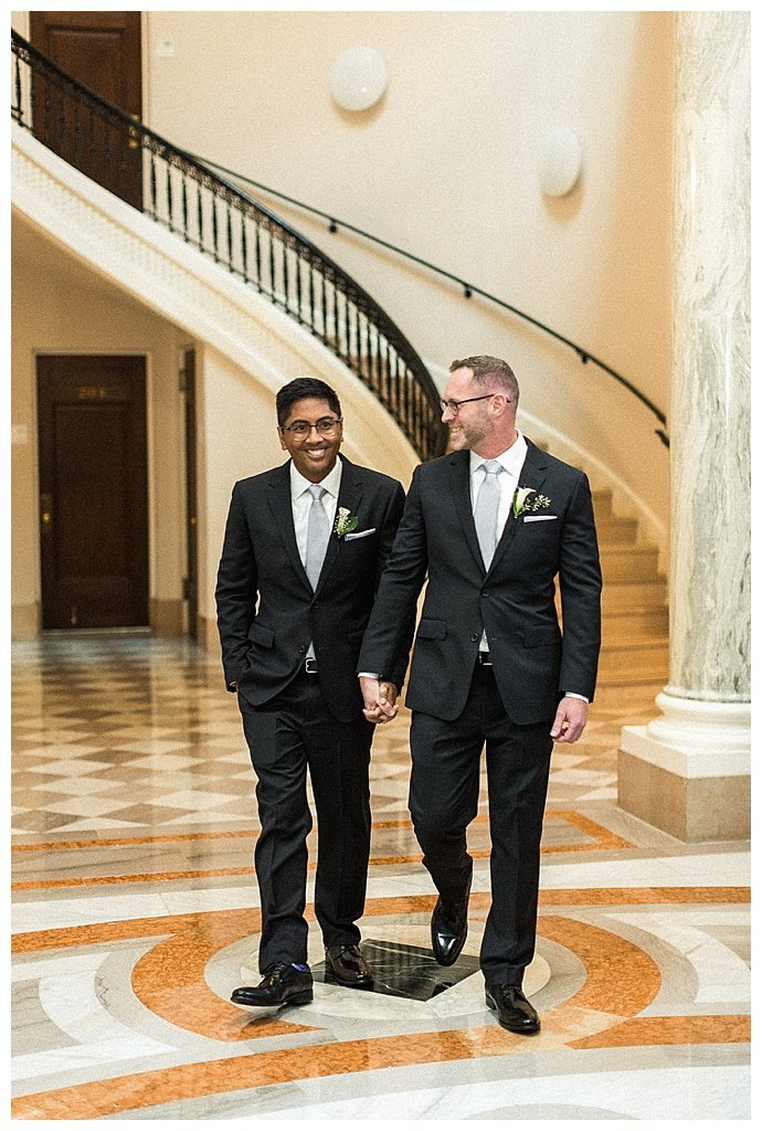 The wedding of Darrell Rivera and Vo Johnson at the Carnegie Institution for Science in Washington, DC October 14, 2017.