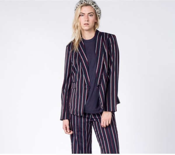Striped Patterned Suit