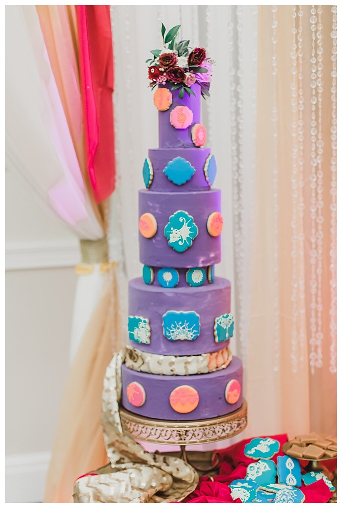 ch-and-sh-fredericks-photography-purple-indian-wedding-cake