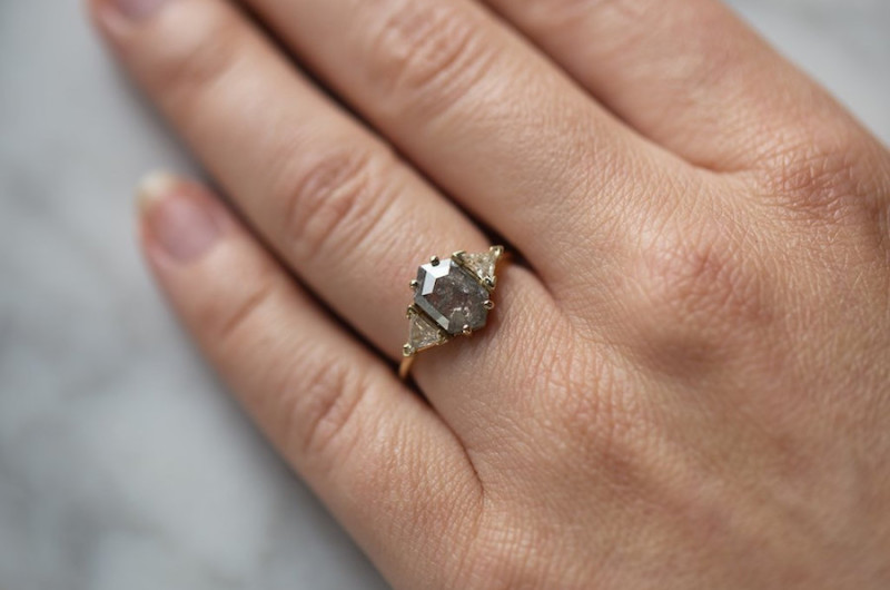 7e05c55271542 Giddy Over Gray: 11 Gray Diamond Engagement Rings We Love - Love Inc ...